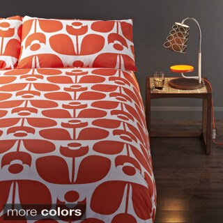 Orla Kiely Wallflower Cotton 3-piece Duvet Cover Set with Additional Shams Available
