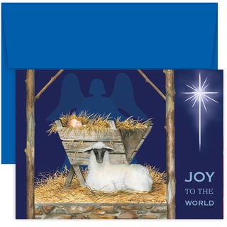 Masterpiece Studios Joy To The World Boxed Holiday Cards, 18 ct