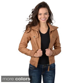Hailey Jeans Co. Junior's High Collar Zip-up Jacket