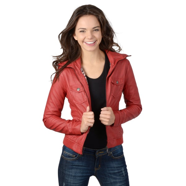 Hailey Jeans Co. Junior's Zip-up Pocket Detail Jacket