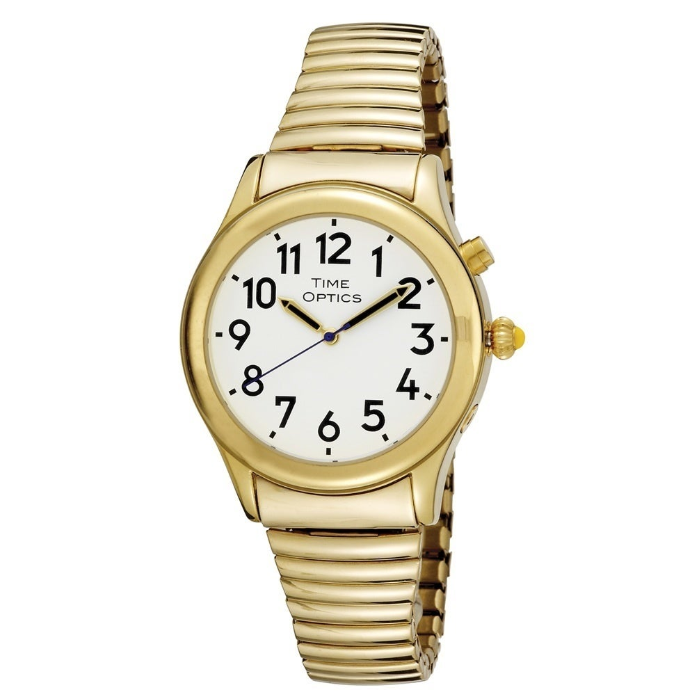 Overstock.com Spanish Talking Women's Goldtone Flex Watch at Sears.com