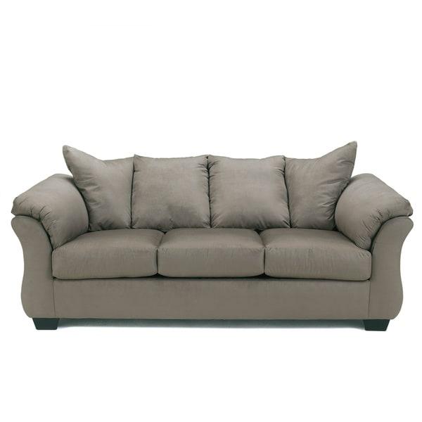 Signature Design By Ashley Darcy Cobblestone Grey Sofa