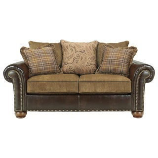 Signature Design by Ashley 'Briar Place' Antique Loveseat