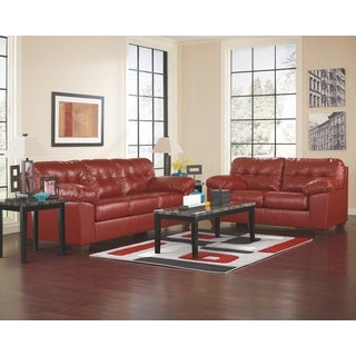 Signature Designs by Ashley 'Alliston' Queen Salsa Red DuraBlend Sofa Sleeper