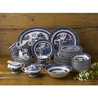 Johnson Brothers Willow Blue 45-piece Dining Set