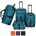 U.S. Traveler by Traveler's Choice Oakton 4-Piece Colorful Lightweight Luggage Set