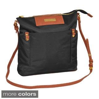 Adrienne Vittadini 11-inch Nylon Cross-body Travel Tote Bag