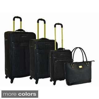 Adrienne Vittadini Stingray 4-piece Spinner Luggage Set