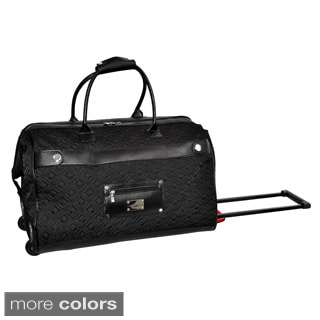 Adrienne Vittadini 22-inch Carry On Quilted Rolling Upright Duffel Bag