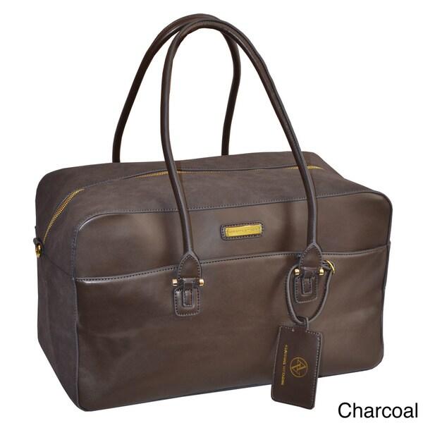 Adrienne Vittadini Faux Suede 18-inch Fashion Duffle Bag