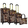Adrienne Vittadini Leopard Paisley Fashion 4-piece Spinner Luggage Set
