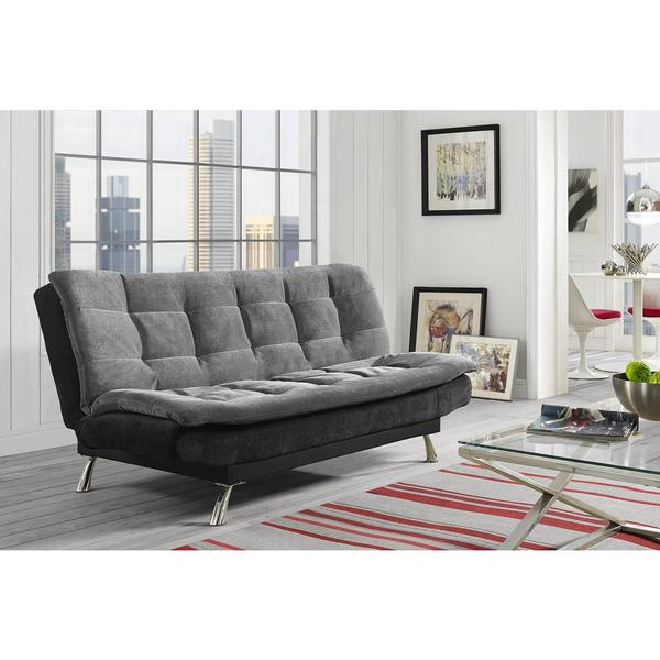 DHP Premium Grey and Black Stella Futon