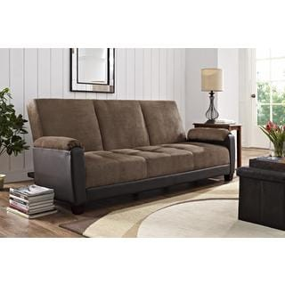 DHP Premium Dallas Two-tone Brown Futon