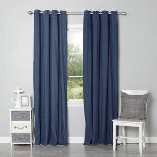Denim Grommet Top Curtain Panel Pair