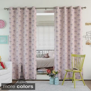 Aurora Home Cloud Print Room Darkening Blackout Curtain Panel Pair