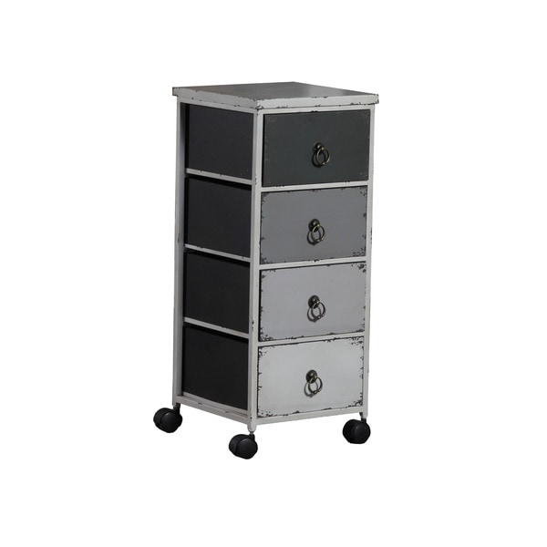 Linon Grey Ombre Wheel Cabinet