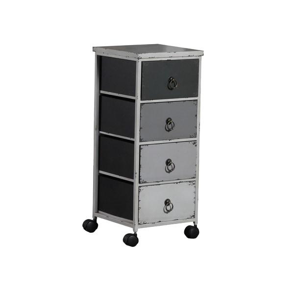 Linon Grey Ombre Wheel Cabinet