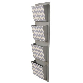 Linon Chevron 4-Slot Mail Hanger