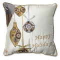 Pillow Perfect Holiday Ornaments Gold/Silver 16.5-inch Throw Pillow