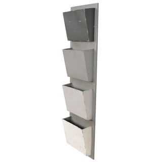 Linon Grey Ombre 4-Slot Mail Hanger