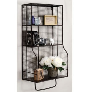 Oh! Home 17 x 31-inch Distressed Metal Wall Storage Organizer
