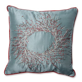 Pillow Perfect Christmas Wreath 18-inch Throw Pillow