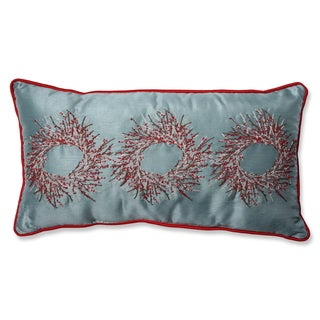 Pillow Perfect Christmas Wreaths Rectangular Throw Pillow