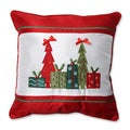 Pillow Perfect Christmas Trees and Presents 16.5-inch Throw Pillow