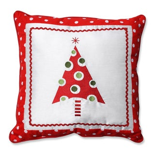Pillow Perfect Framed Christmas Tree 16.5-inch Throw Pillow