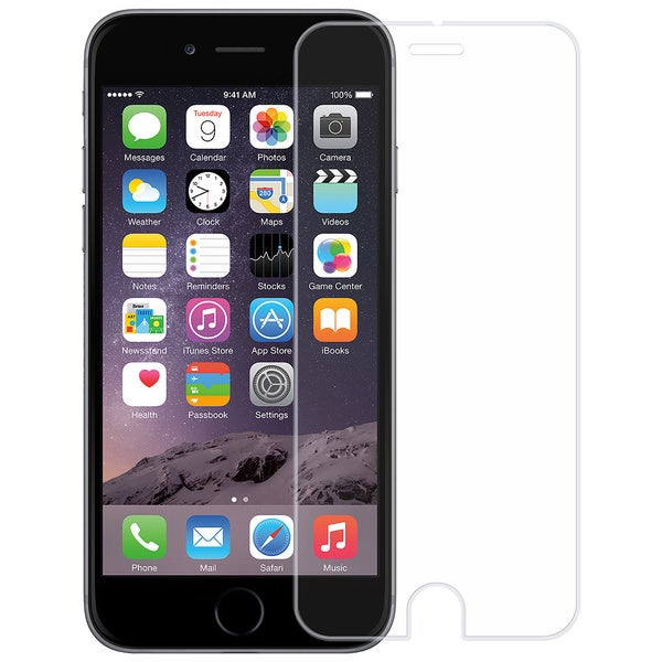 Amzer Kristal Tempered Glass HD Screen Protector for iPhone 6 Transpa