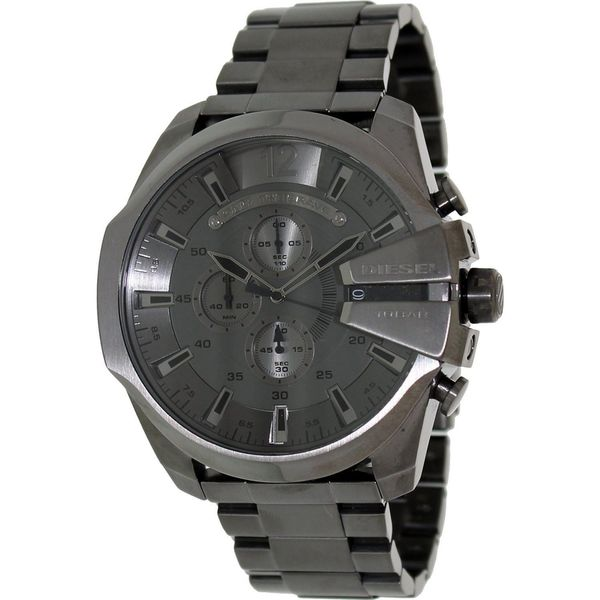 Diesel Men's DZ4282 Mega Chief Grey Chronograph Watch