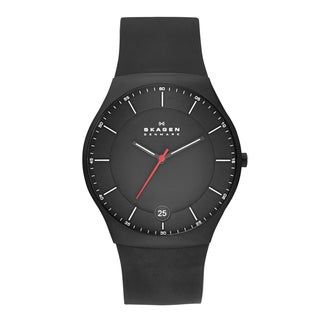 Skagen Men's SKW6087 Balder Quartz 3 Hand Date Titanium Black Watch