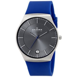 Skagen Men's SKW6072 Balder Quartz 3 Hand Date Titanium Blue Watch