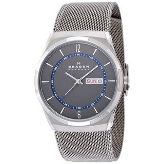 Skagen Men's SKW6078 Melbye Quartz 3 Hand Date Titanium Gray Watch