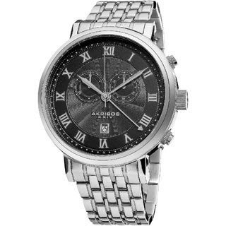 Akribos XXIV Men's Swiss Quartz Chronograph Stainless Steel Bracelet Watch