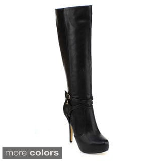 DBDK Women's 'Hita-1' Platform Stiletto Knee-high Boots