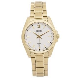 Seiko Men's SGEG64 Classic Goldtone Watch