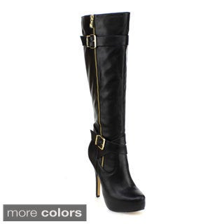 DBDK Women's 'Deino-2' Platform Stiletto Knee-high Boots