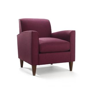 Felix Raspberry and Espresso Arm Chair