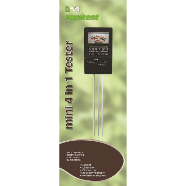 Luster Leaf Rapitest Mini 4-in-1 Soil Tester