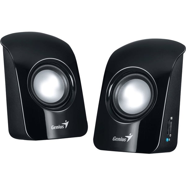 Genius SP-U115 2.0 Speaker System - 1.5 W RMS - Glossy Black
