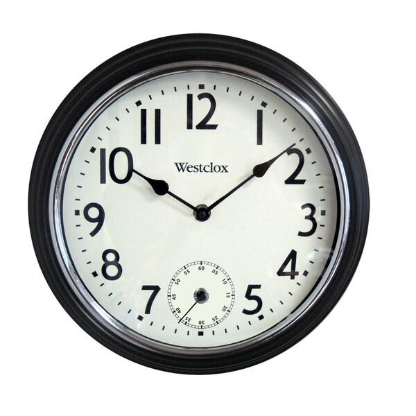 WestClox 12-inch White Dial Wall Clock