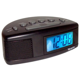 Westclox Super Loud LCD Alarm Clock with Blue Backlight 47547