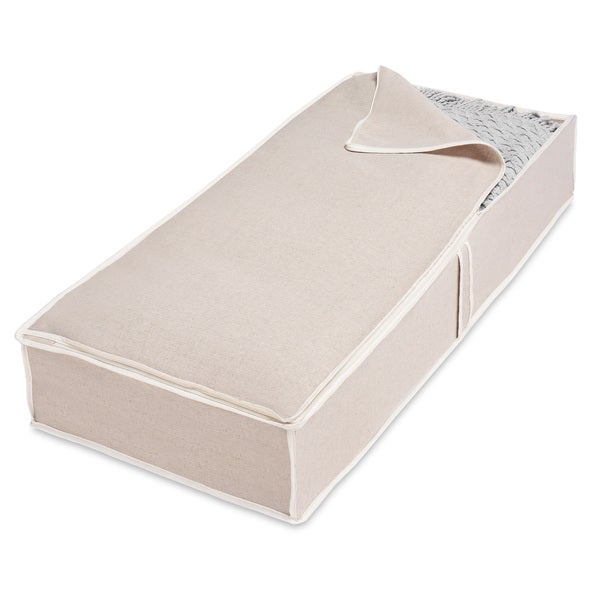 Whitmor Natural Linen Jumbo Underbed Storage Bag