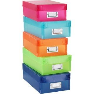 Whitmor 5-color Plastic Organizer Boxes