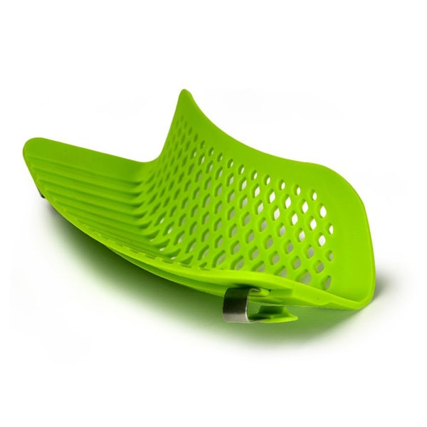 Ecolution Green Silicone Snap and Strain Strainer