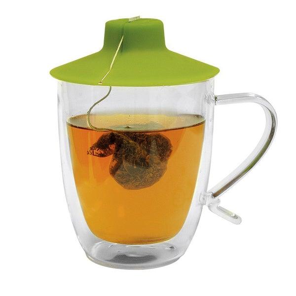 Primula Double Wall 16-ounce Mug with Tea Bag Buddy