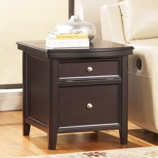 Signature Design by Ashley Carlyle Almost Black Media End Table