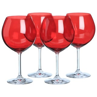 Vintage Red Aromatic Wine Glasses (Set of 4)