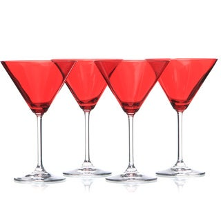 Waterford Marquis Vintage Red Martini Glasses (Set of 4)